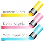 Highlighter marker ribbon set — Stock Vector