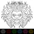 Lion Head Drawing — Stock Vector