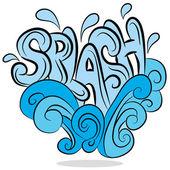 Water Splash Sound Effect Text — Stock Vector