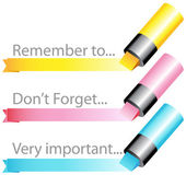 Highlighter marker ribbon set — Vettoriale Stock