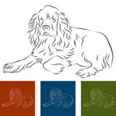 Cocker spaniel — Vector de stock