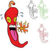 Hot Chili Pepper — Stock Vector