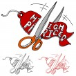 Cutting High Prices — Stock Vector