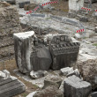 Stock Photo: Roman Forum Ruins Temple Stones