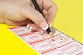 Filling Lottery Ticket — Stock Photo
