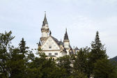 Neuschwanstein Castle Between Trees — Stock Photo