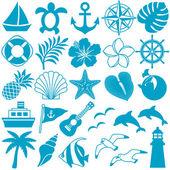 ícones de verão — Foto Stock