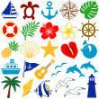 Summer colorful icons — Stock Photo #5933218