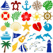Summer colorful icons — Stock Photo