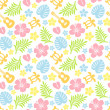 Tropical colorful pattern — Stockfoto