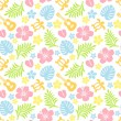 Stock Photo: Tropical colorful pattern