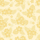 Patrón de hibisco — Foto de Stock