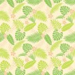 Stock Photo: Summer leaf pattern