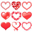 Royalty-Free Stock Photo: Set of red hearts