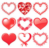 Set of red hearts — Stock Photo