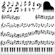Music notes — Stok fotoğraf