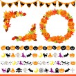 Stock Photo: Halloween frame and line