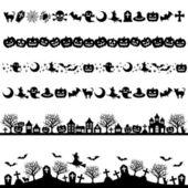 Halloween line decoration — Stock Photo