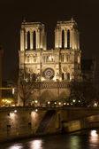 Natten visa noter dame de paris. paris, frankrike. — Stockfoto