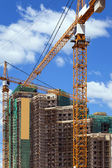 Construction of multi-storey complex. — Stock Photo