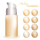 Makeup foundation — Stock Vector