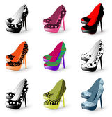 High heel woman shoes — Stock Vector