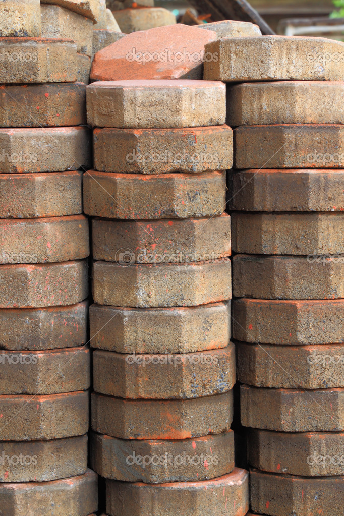 Stack of cement block  Stock Photo #5756284