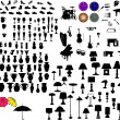 Stock Vector: Objects silhouette