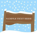 Wooden sign — Stock Vector