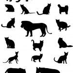 Cat family — Stock Vector