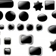 Black button collection — Stock Vector