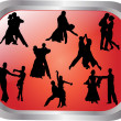 Stock Vector: Collection of dancing