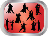 Collection of dancing — Stock Vector