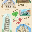 Italisights in watercolours — Stock Vector #5426396