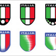 Stock Vector: Italitricolor emblems