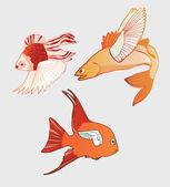 Fantastic Flying Fish — Stock Vector
