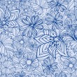 Blue floral pattern - Stock Vector