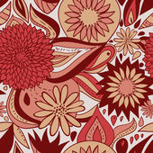 Red floral pattern — Stock Vector