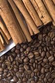 Coffee with cinnamon — Stock Photo