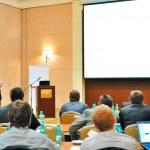 Conference, presentation in aditorium — Stock Photo
