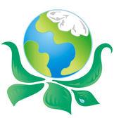 Green Ecology Logo 1 — Stock Vector
