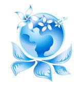Blue Ecology Logo 2 — Stock Vector