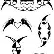 Royalty-Free Stock Imagen vectorial: Set beautiful ornamental tattoo 3