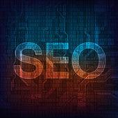 Seo word background — Stock Vector