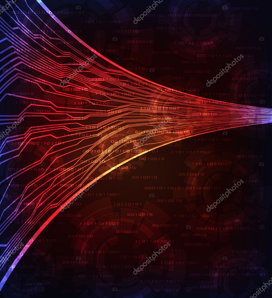 Modern technology theme background. eps10 layered vector.  — Imagen vectorial #6373270