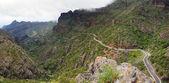 Narrow road thru Masca Canyon — Stock Photo