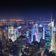 New York City Manhattan at night — Foto Stock