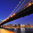 Stock Photo: New York City ManhattBridge over East River