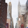 New York City Manhattan street view — Stock Photo