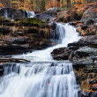 Autumn Waterfall in mountain — Stock Photo #5565512